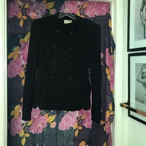 Black Fitted Blazer in Jersey with stretch